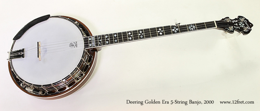 Deering Golden Era 5-String Banjo, 2000 Full Front View