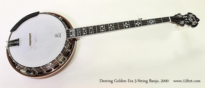 Deering Golden Era 5-String Banjo, 2000 Full Front View