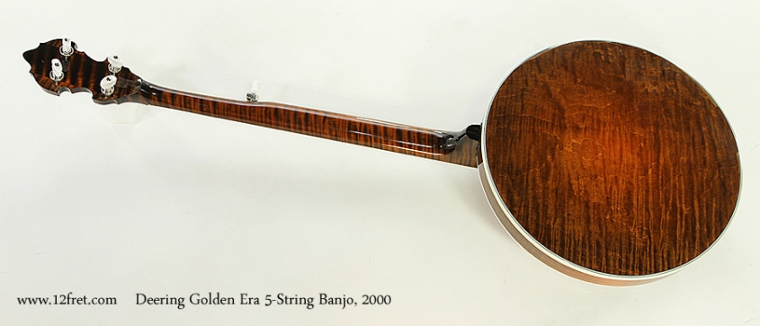 Deering Golden Era 5-String Banjo, 2000 Full Rear View
