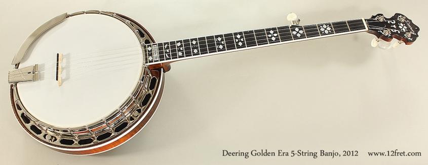 Deering Golden Era 5-String Banjo, 2012 Full Front VIew