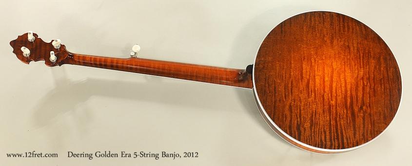 Deering Golden Era 5-String Banjo, 2012 Full Rear View