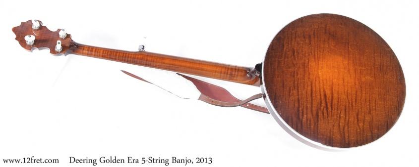 Deering Golden Era 5-String Banjo, 2013 Full Rear View