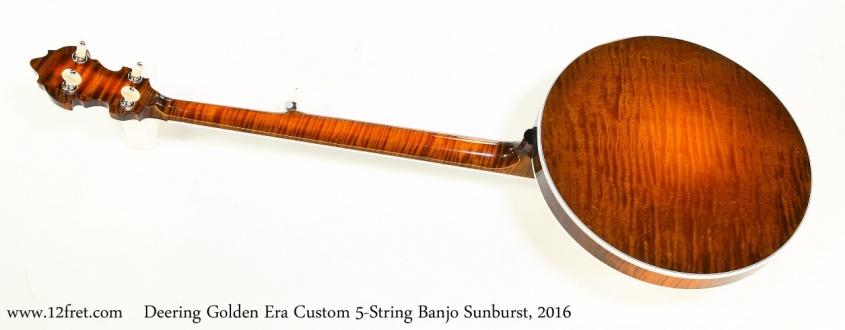 Deering Golden Era Custom 5-String Banjo Sunburst, 2016   Full Front View