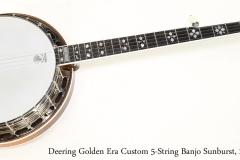 Deering Golden Era Custom 5-String Banjo Sunburst, 2016   Full Rear View