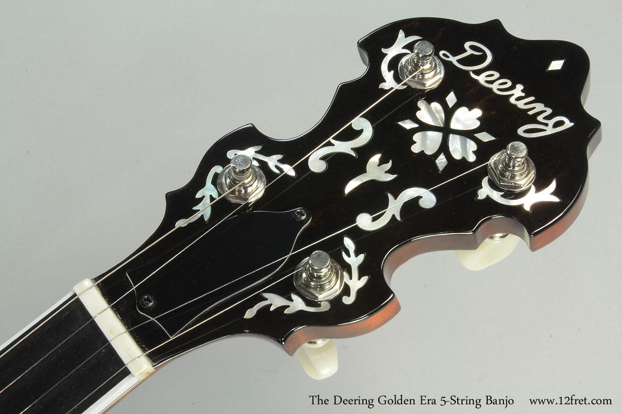 The Deering Golden Era 5-String Banjo Head Front