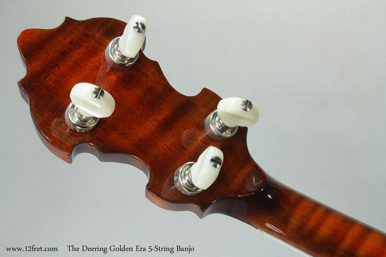 The Deering Golden Era 5-String Banjo Head Rear