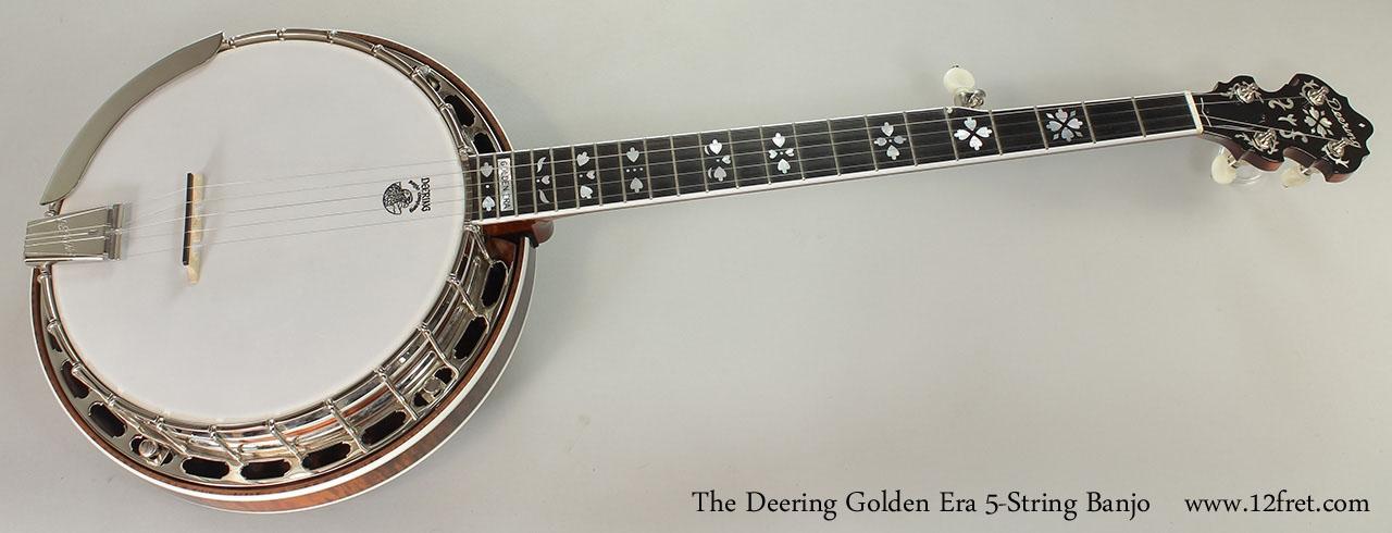 The Deering Golden Era 5-String Banjo Full Front View