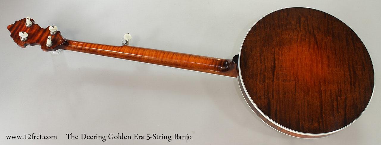 The Deering Golden Era 5-String Banjo Full Rear View