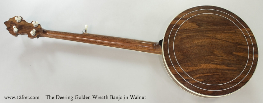 The Deering Golden Wreath Banjo in Walnut Full Rear View