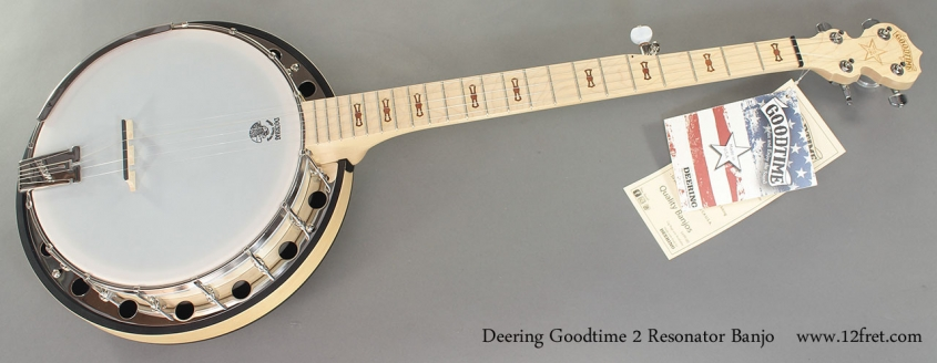 Deering Goodtime Open Back Banjo full front view