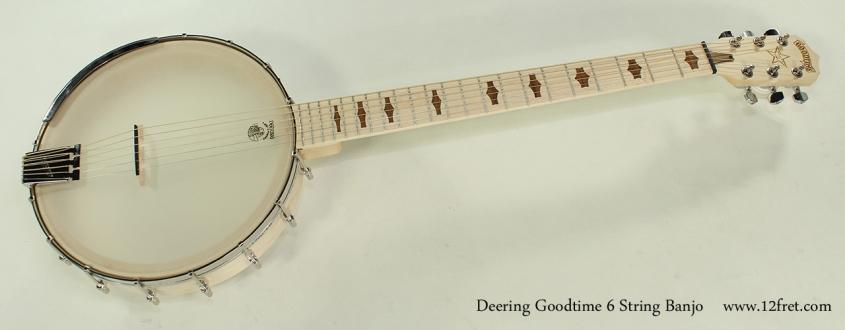 Deering Goodtime 6 String Banjo Full Front View