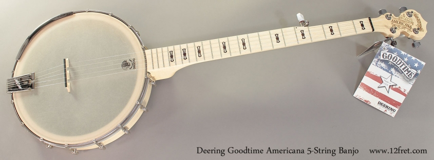 Deering Goodtime Americana 5-String Banjo Full Front View