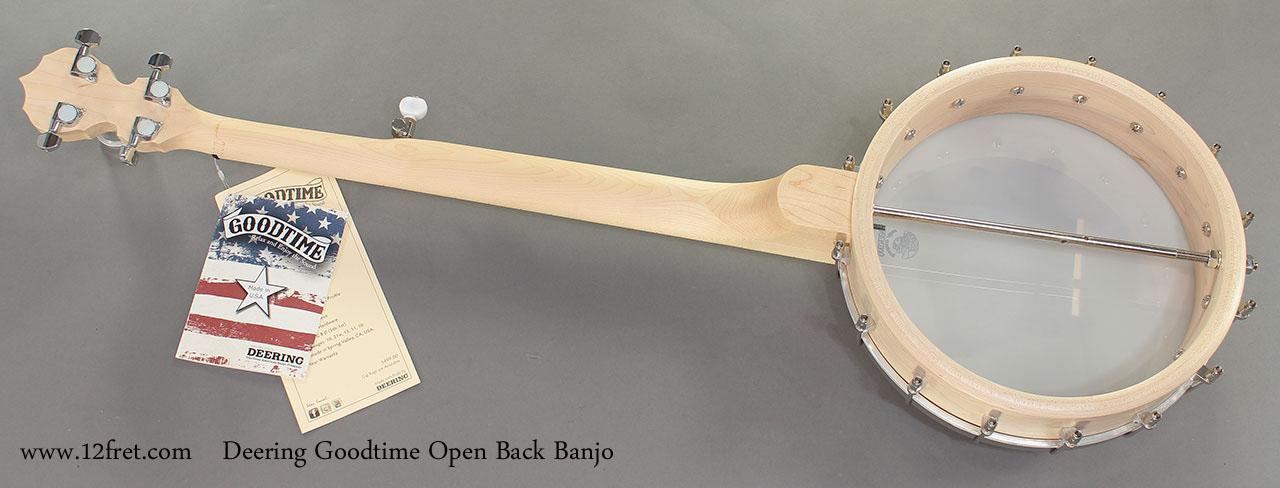 Deering Goodtime Open Back Banjo full rear view