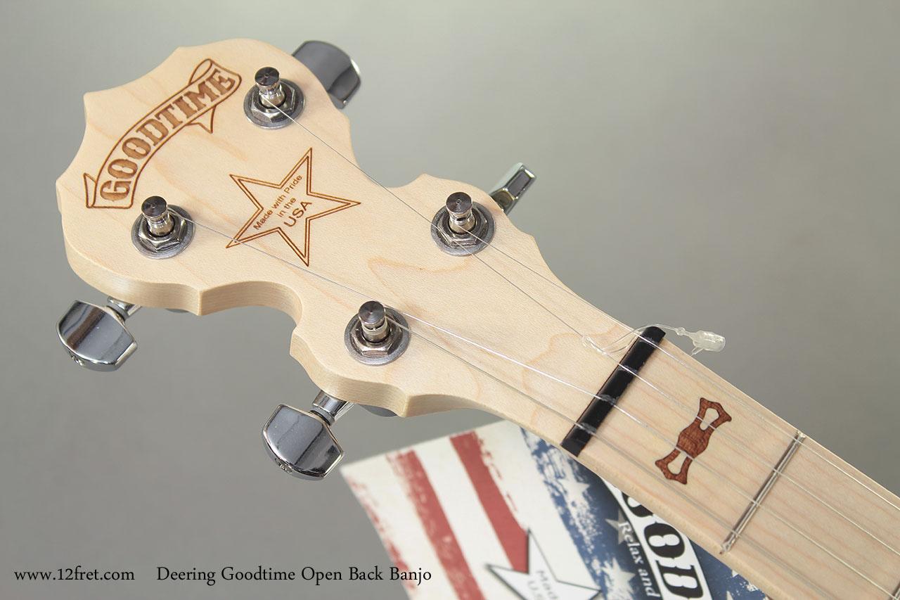 Deering Goodtime Open Back Banjo head front