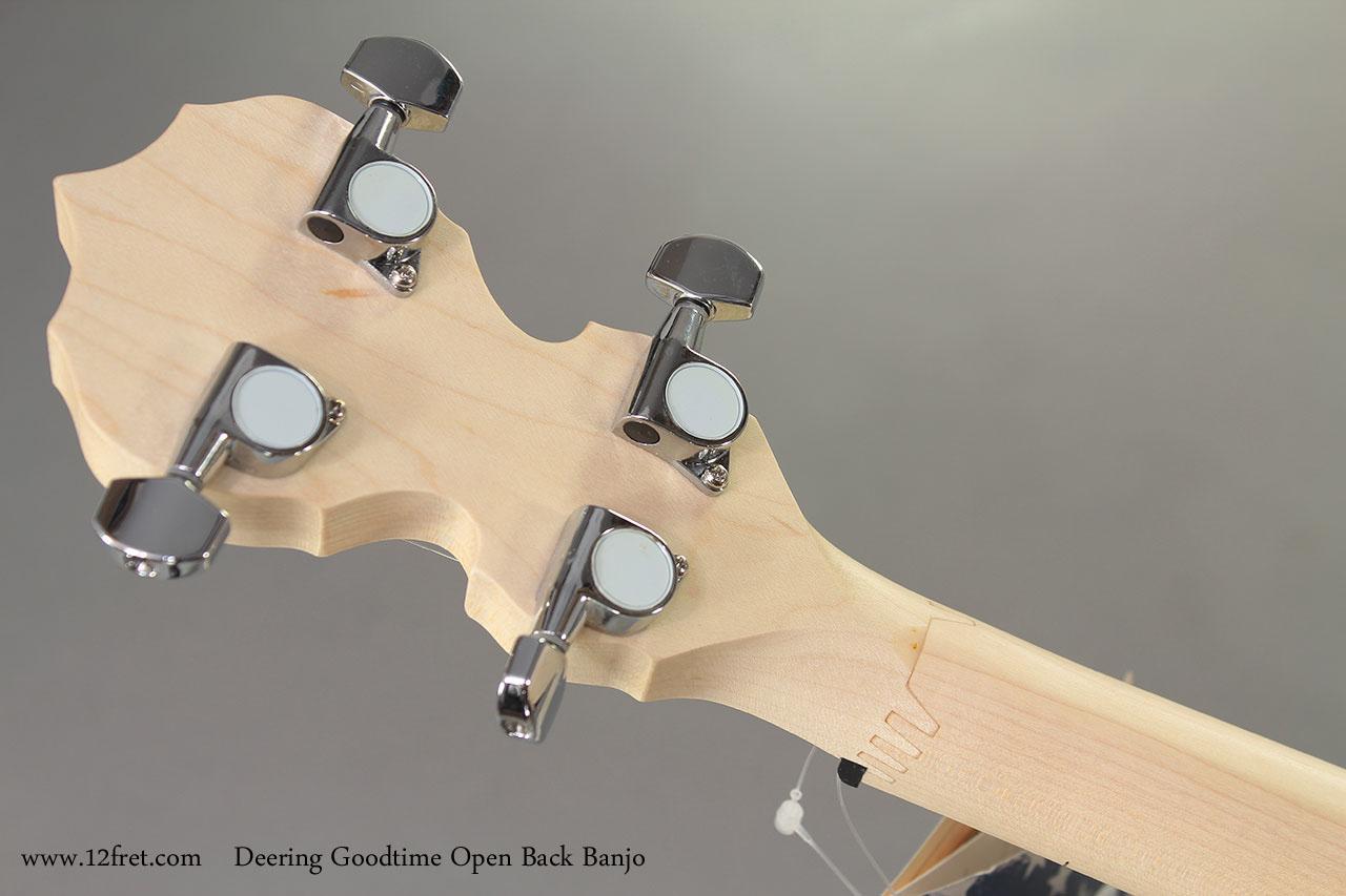 Deering Goodtime Open Back Banjo head rear
