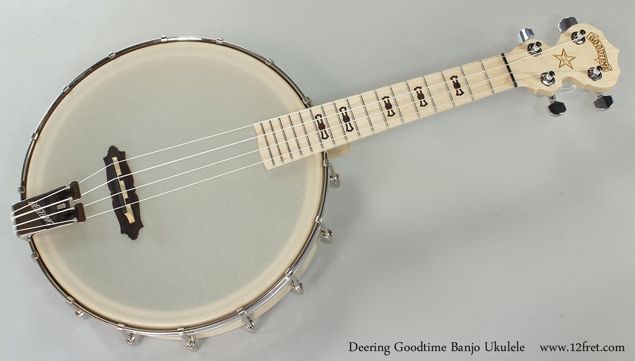 Deering Goodtime Banjo Ukulele Full Front View