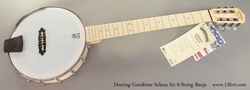 Deering Goodtime Solana 6 6-String Banjo Full Front View