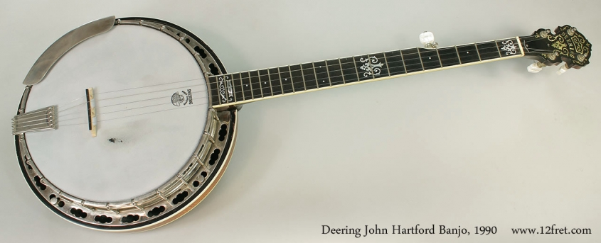 Deering John Hartford Banjo, 1990 Full Front View