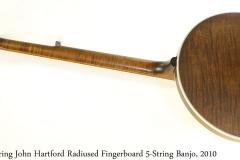 Deering John Hartford Radiused Fingerboard 5-String Banjo, 2010 Full Rear View