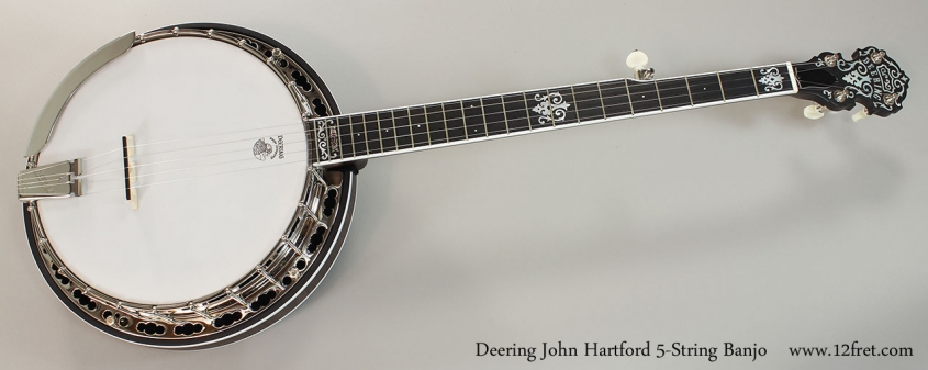 Deering John Hartford 5-String Banjo Full Front View