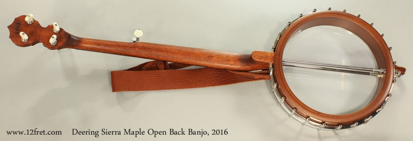 Deering Sierra Maple Open Back Banjo, 2016 Full Rear View