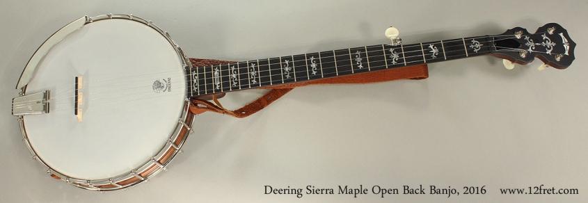 Deering Sierra Maple Open Back Banjo, 2016 Full Front View
