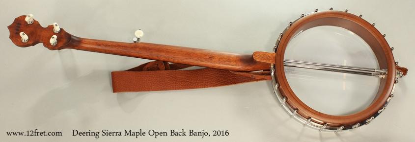 Deering Sierra Maple Open Back Banjo, 2016 Full Rear View