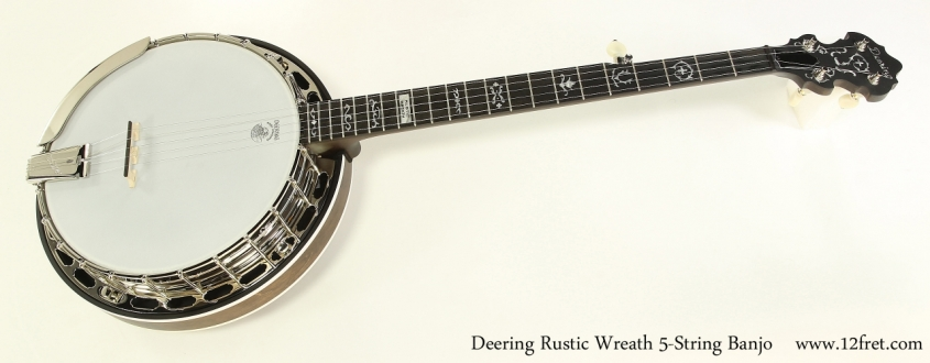 Deering Rustic Wreath 5-String Banjo   Full Front View