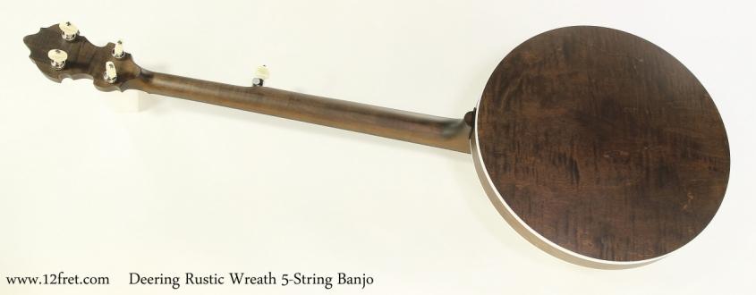 Deering Rustic Wreath 5-String Banjo   Full Rear View