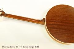 Deering Sierra 17-Fret Tenor Banjo, 2010    Full Rear View