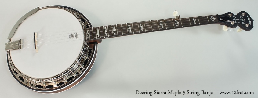 Deering Sierra Maple 5 String Banjo Full Front View