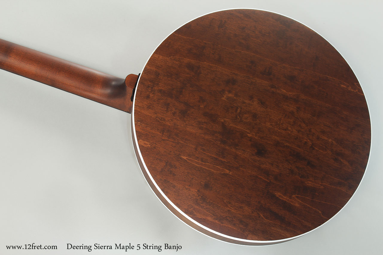 Deering Sierra Maple 5 String Banjo Back View