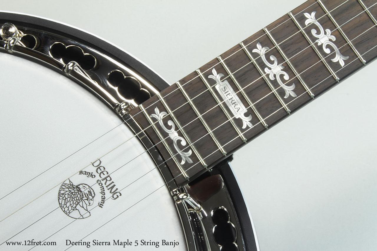 Deering Sierra Maple 5 String Banjo Inlay