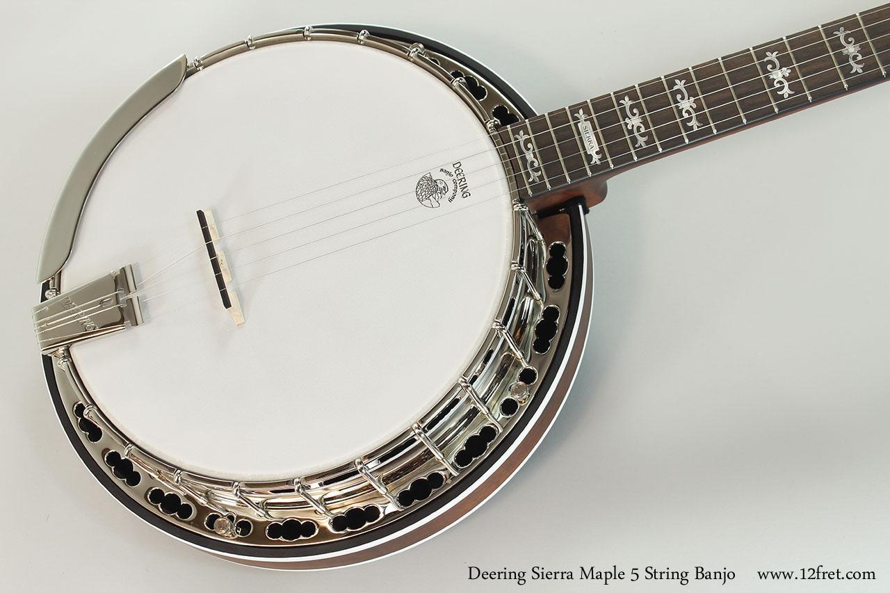 Deering Sierra Maple 5 String Banjo Top View