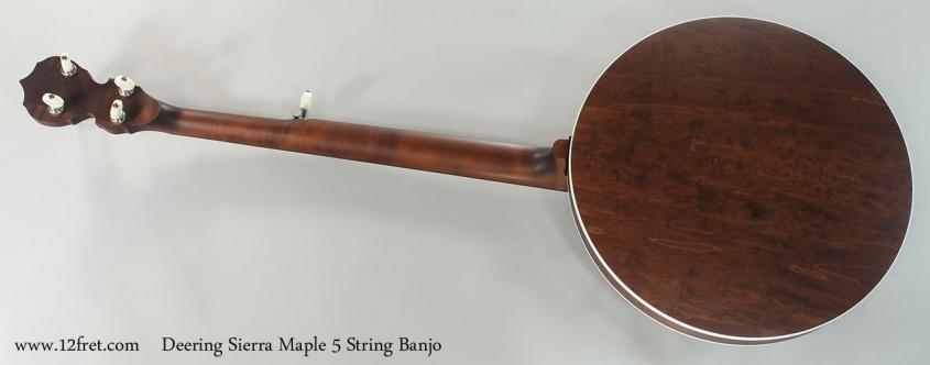 Deering Sierra Maple 5 String Banjo Full Rear View
