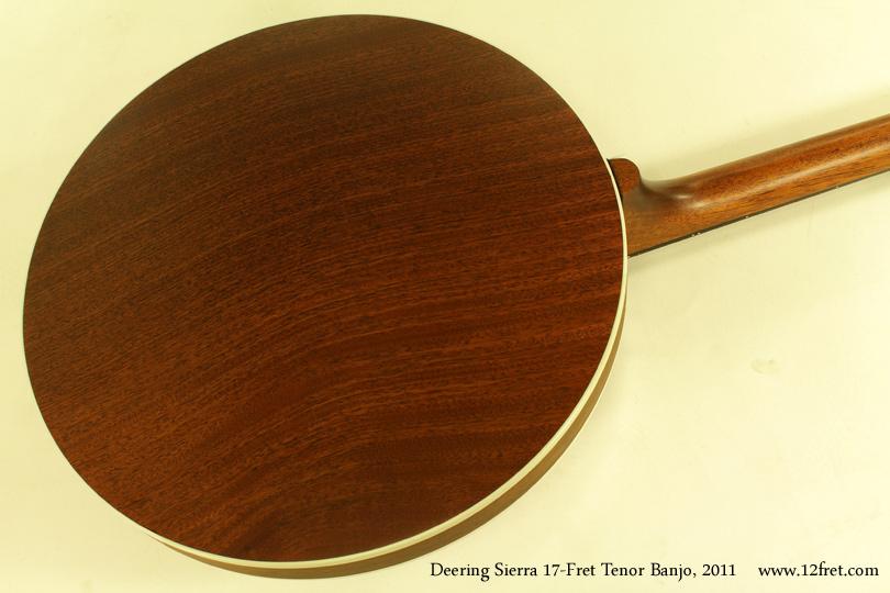 Deering Sierra 17-Fret Tenor Banjo 2011 back