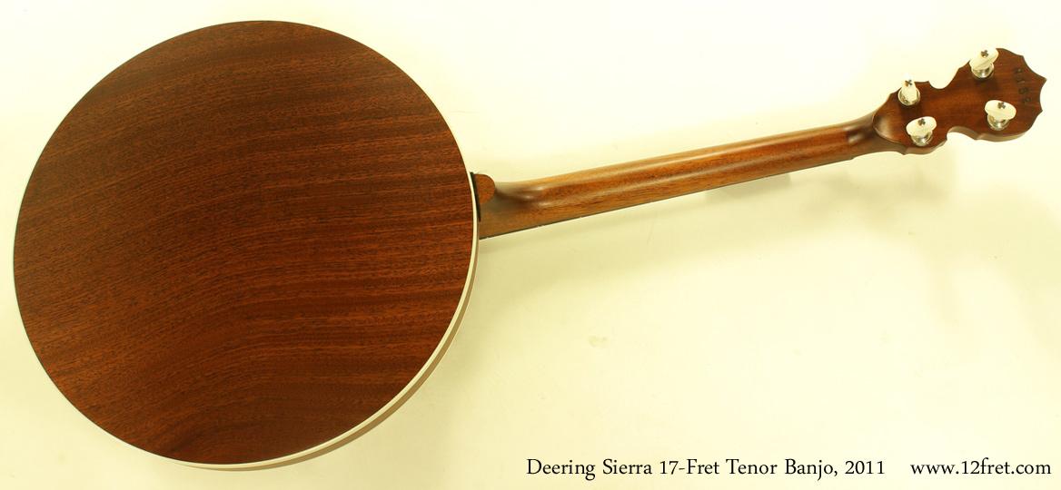 Deering Sierra 17-Fret Tenor Banjo 2011 full rear view