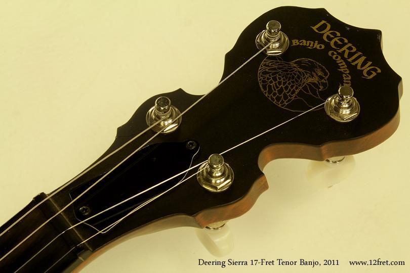 Deering Sierra 17-Fret Tenor Banjo 2011 head front