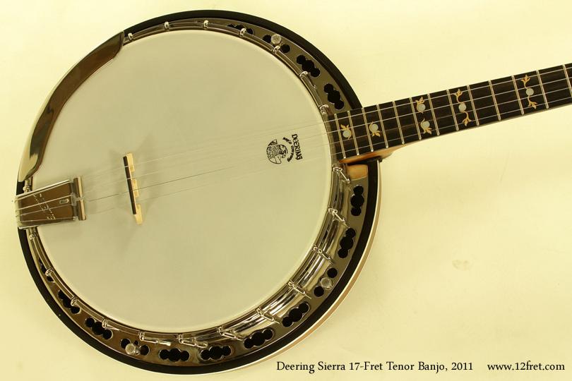 Deering Sierra 17-Fret Tenor Banjo 2011 top