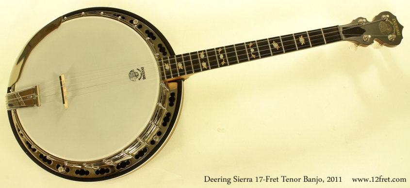 Deering Sierra 17-Fret Tenor Banjo 2011 full front view