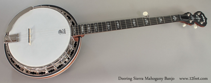 Deering Sierra Mahogany Banjo Full Front View