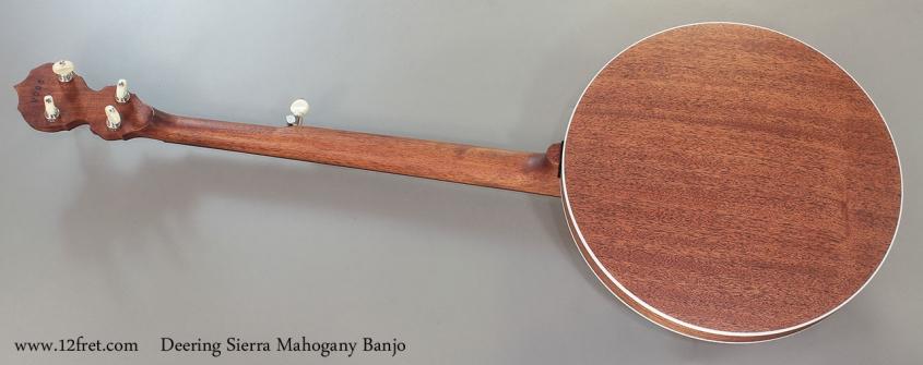 Deering Sierra Mahogany Banjo Full Rear View