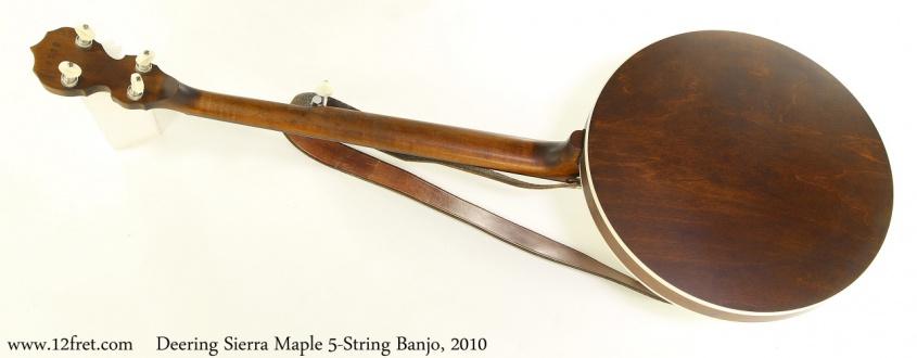 Deering Sierra Maple 5-String Banjo, 2010 Full Rear View