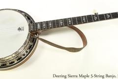 Deering Sierra Maple 5-String Banjo, 2010 Full Front View