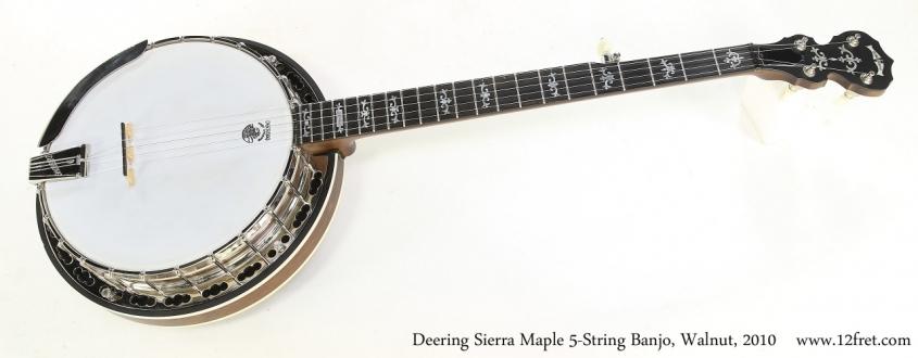 Deering Sierra Maple 5-String Banjo, Walnut, 2010   Full Front View