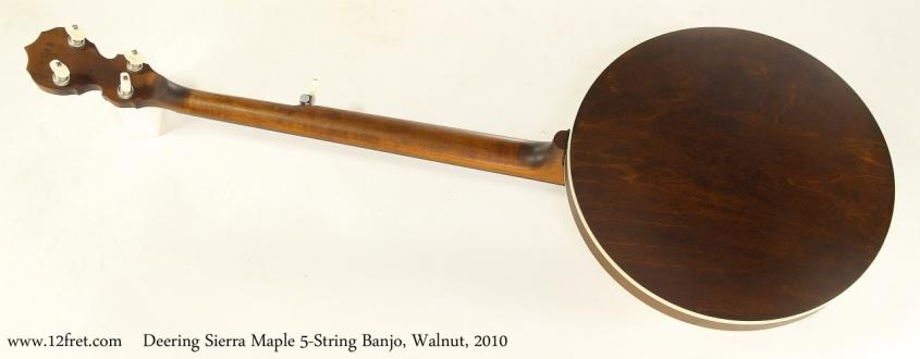Deering Sierra Maple 5-String Banjo, Walnut, 2010   Full Rear View