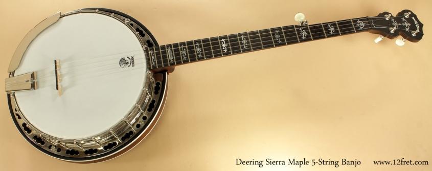 Deering Sierra Maple 5-String Banjo full front view