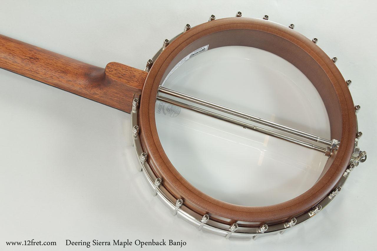 Deering Sierra Maple Openback Banjo Back View