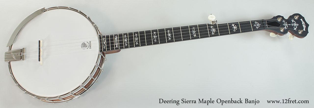 Deering Sierra Maple Openback Banjo Full Front View