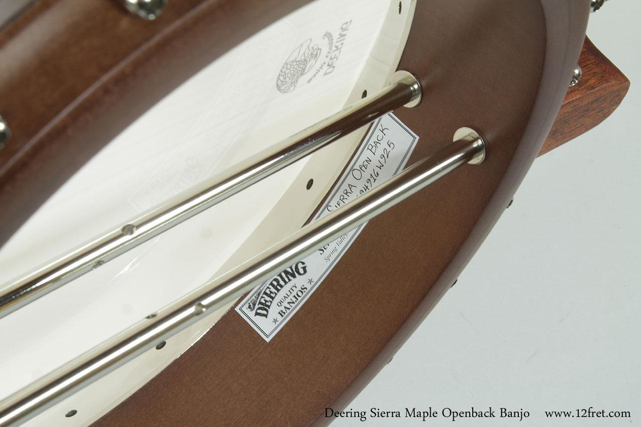 Deering Sierra Maple Openback Banjo Label